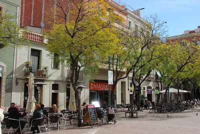 Beautyparlour in one of the most popular streets in Gracia district of Barcelona